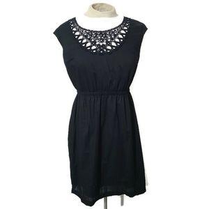 Mossimo black sleeveless dress crochet neckline